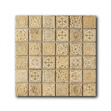 Мраморная мозаика - Equilibrio M2B Gold - 300*300 мм - Equilibrio M2B Gold