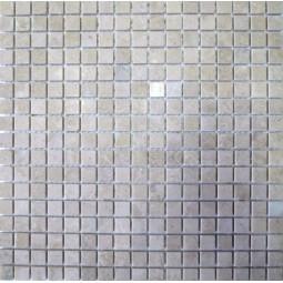 Мраморная мозаика - МБ-пб-15 - 285*285 мм