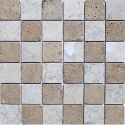 Мозаика из травертина - ШМБТ-сб-48 - 300*300 мм