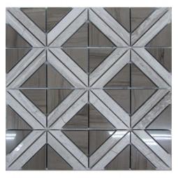 Мраморная мозаика - Romb Grey - 300*300 мм