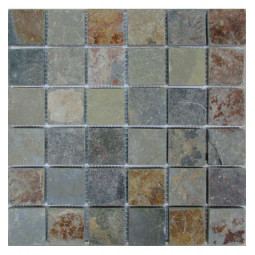 Мозаика из сланца - Slate Rusty 48 - 305*305 мм