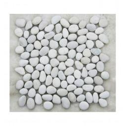 Мозаика из гальки - Галька Perla Bianco Natura - 305*305 мм