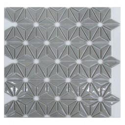 Керамическая мозаика - Flowers Grey - 290*300 мм