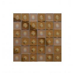 Зеркальная мозаика - Bronze-M Round - 300*300 мм