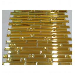 Зеркальная мозаика - Mirror Stripes Gold - 300*300 мм