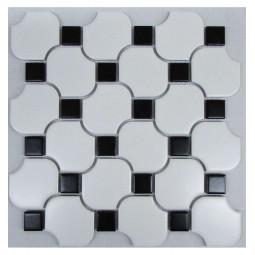 Керамическая мозаика - White Wave Octagon - 267*267 мм