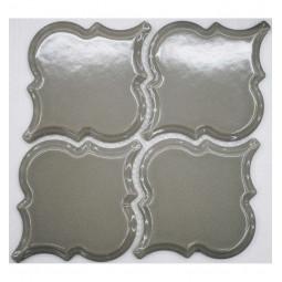 Керамическая мозаика - Porcelain Arabesko Bevel Grey 160 - 218*218 мм