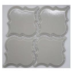 Керамическая мозаика - Porcelain Arabesko Bevel Light Grey 160 - 218*218 мм