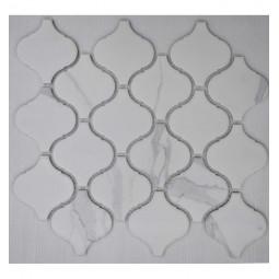 Керамическая мозаика - Porcelain Arabesko Carrara 74 - 246*280 мм