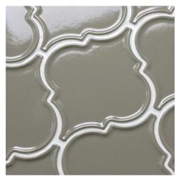 Керамическая мозаика - Porcelain Arabesko Plate Grey 160 - 218*218 мм