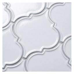 Керамическая мозаика - Porcelain Arabesko Plate White 160 - 218*218 мм