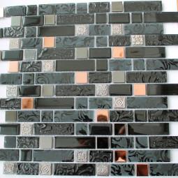 Мозаика из камня и стекла DGFW010 - 304*304 мм
