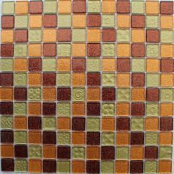 Стеклянная мозаика F18.48.55 - 300*300 мм