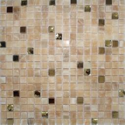 Мозаика из оникса со стразами