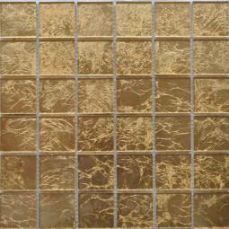 Стеклянная фольгированная мозаика ST031 - 300*300 мм