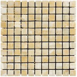 Мраморная мозаика - M073-25T (Ony* Yellow) - 305*305 мм