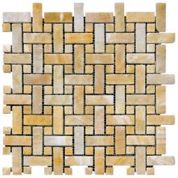 Мраморная мозаика - M073-CP (Ony* Yellow) - 305*305 мм