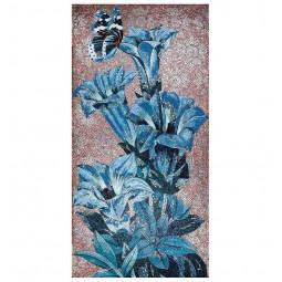 Blue Flowers FLO14C панно из стеклянной мозаики