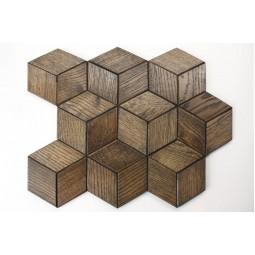 Деревянная мозаика - hexo3s60-8 - 360*312 мм