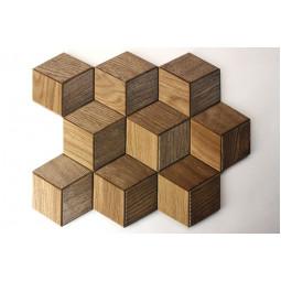 Деревянная мозаика - hexo3s60-mix2 - 360*312 мм