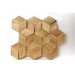 Деревянная 3D мозаика - hexo3k60-1 - 360*312 мм