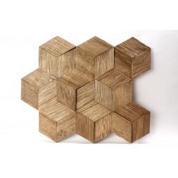 Деревянная 3D мозаика - hexo3k60-4 - 360*312 мм