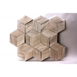 Деревянная 3D мозаика - hexo3k60-2 - 360*312 мм
