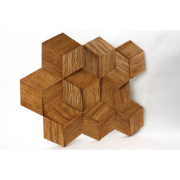 Деревянная 3D мозаика - hexo3k60-5 - 360*312 мм