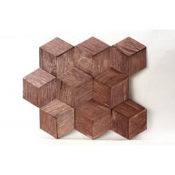 Деревянная 3D мозаика - hexo3k60-6 - 360*312 мм