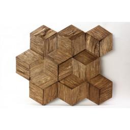 Деревянная 3D мозаика - hexo3k60-7 - 360*312 мм