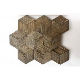 Деревянная 3D мозаика - hexo3k60-8 - 360*312 мм