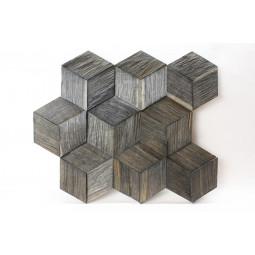 Деревянная 3D мозаика - hexo3k60-9 - 360*312 мм