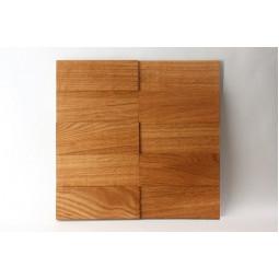 Деревянная мозаика - line3d150s-5 - 300*300 мм