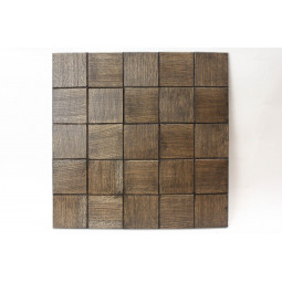 Деревянная мозаика - quadro60s-8 - 300*300 мм