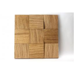 Деревянная 3D  мозаика - quadro3d100k-1 - 300*300 мм