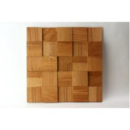 Деревянная мозаика - quadro3d60s-5 - 300*300 мм