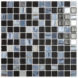Стеклянная мозаика Astra Black - 317*317 мм
