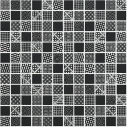 Стеклянная мозаика Born black - 317*317 мм