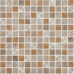 Стеклянная мозаика Born brown - 317*317 мм