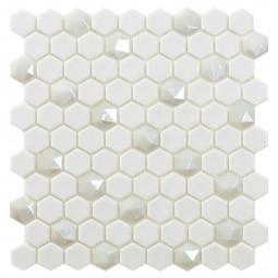 Стеклянная мозаика Hex Colors № 100/Diamond 350D - 317*307 мм